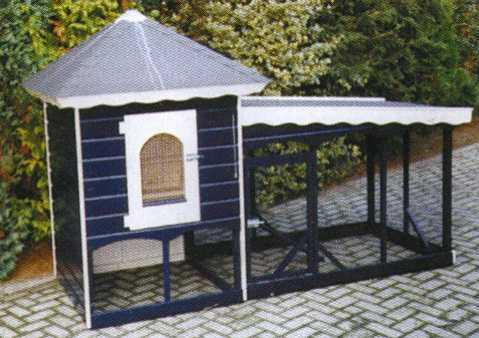 Hier ziet u enkele mogelijkheden van een zelf te bouwen kippenhok
